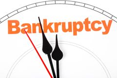 Concept of bankruptcy Royalty Free Stock Images