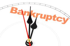 Concept of bankruptcy Royalty Free Stock Image