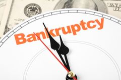 Concept of bankruptcy Royalty Free Stock Photos