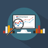 Concept banner of business analytics. Concept banner of business analytics on flat style Stock Photography