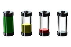 Concept - batterijlast Royalty-vrije Stock Foto's