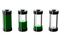 Concept - batterijlast Royalty-vrije Stock Afbeelding