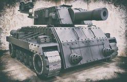 Concept Battle Tank Vintage Style royalty free illustration