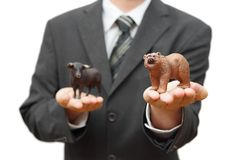 Concept of bear stock market.  recession time Stock Photos