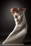 Concept. Beautiful naked girl breaks her cocoon Stock Photography