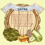The concept of beauty and health, sauna services. Individual bath accessories, items for face and body care. Rejuvenation. Culture symbols of purity. Place for Royalty Free Stock Photos