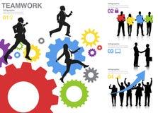 Concept bedrijfsgroepswerksucces Stock Fotografie