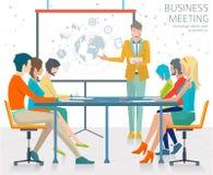 Concept bedrijfspresentatie vector illustratie