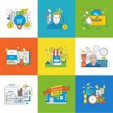 Concept beheer en verzekering, het winkelen en kortingen, planning royalty-vrije illustratie