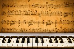 Concept behind the music relating to the score with notes Royalty Free Stock Images