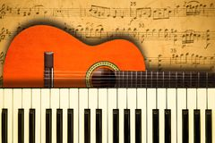 Concept behind the music relating to the score with notes Royalty Free Stock Photography