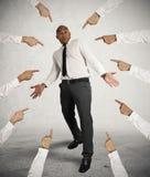 Beschuldigde zakenman Stock Afbeelding