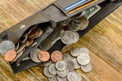 Concept besparingsgeld in een crisis en huisfinanciën, financiën royalty-vrije stock afbeelding