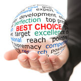 Concept of best choice Stock Photo