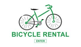Concept of bicycle rental. Illustration of a bicycle rental concept Royalty Free Stock Photos