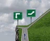 Concept bien choisi facile de chemin d'affaires et de vie illustration libre de droits