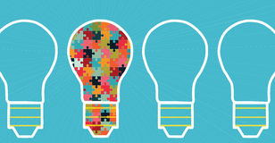 Concept of big ideas inspiration innovation, invention, effective thinking Royalty Free Stock Image