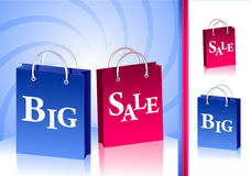 Concept Big Sale and isolate two  packages Stock Photo