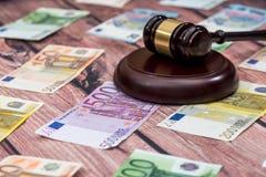 Concept bij de corruptie in rechtvaardigheid royalty-vrije stock afbeelding