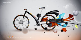 Concept bike for urban transportation. product Stock Images