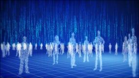 Concept binaire du monde de l'information. illustration stock