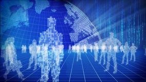 Concept binaire du monde de l'information. Images stock