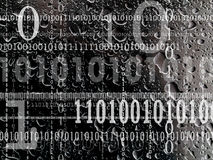 Concept of binary numbering Royalty Free Stock Image