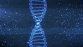 Concept of biochemistry with dna molecule. Abstract 3d rendering of Concept of biochemistry with dna molecule on dark blue background Stock Photos