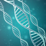 Concept of biochemistry with dna molecule. 3d rendering.  Royalty Free Stock Photo