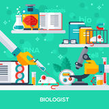 Concept of biologist workplace Royalty Free Stock Photo