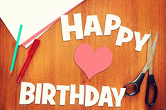 Concept of birthday greetings Stock Images