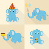 Concept of birthday icons. Stock Photo