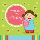 Concept of Birthday invitation card. Stock Images