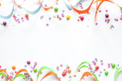 Concept birthday party on white background top view pattern Royalty Free Stock Photography
