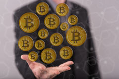 Concept of bitcoin currency Royalty Free Stock Image