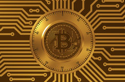 Concept Bitcoin zoals een Elektronisch Veiligheidsslot Stock Afbeelding