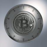 Concept Bitcoin zoals een Veiligheidsslot Royalty-vrije Stock Afbeelding