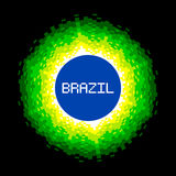 concept à 8 bits du monde du Brésil de Pixel-art Photographie stock libre de droits