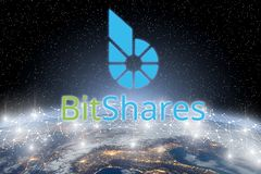 Concept of Bitshares coin , Digital money royalty free stock photography