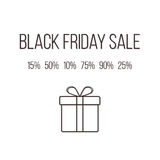 Concept of black friday lettering with different. Concept of black friday shopping lettering with different sales. isolated on white background. modern vector Royalty Free Stock Image