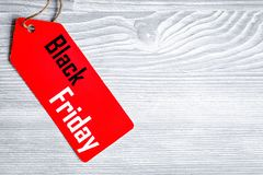 Concept black friday on wooden background top view Royalty Free Stock Image