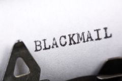 Concept of Blackmail Royalty Free Stock Photography