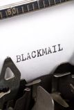 Concept of Blackmail Royalty Free Stock Image