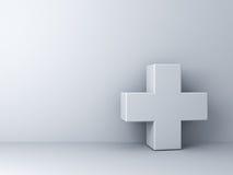 Concept blanc d'abrégé sur plus sur le mur blanc Photo libre de droits