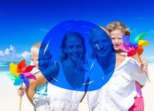 Concept bleu de marqueur de vacances d'été de vacances Image stock