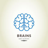 Concept bleu de Smart d'icône de cerveau Image libre de droits