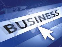 Concept bleu du monde d'affaires Photographie stock libre de droits