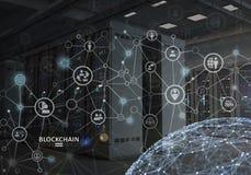 Concept Blockchain Cryptocurrencyplatform stock afbeelding