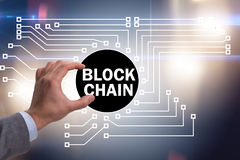 The concept of blockchain in modern business Stock Photo