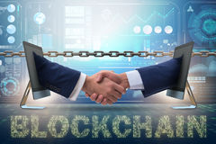 The concept of blockchain in modern business Royalty Free Stock Photos